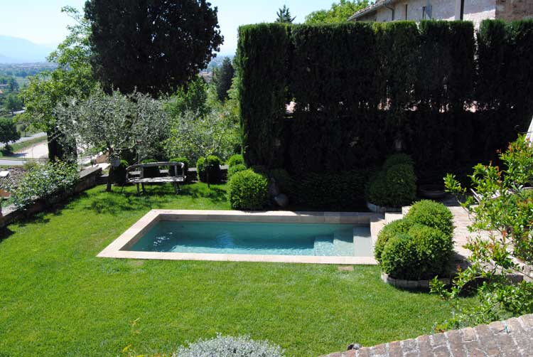 Rendering 3d esterni piscina for Rendering giardino